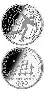 10 euro coin XX. Olympic Winter Games 2006 in Turin - Speed Skating | Italy 2005