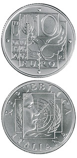 10 euro 60 years Peace and Freedom - 2005 - Series: Silver 10 euro coins - Italy