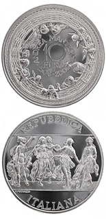 10 euro 500. anniversary of the death of Andrea Mantegna - 2006 - Series: Silver 10 euro coins - Italy