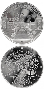 10 euro 50 Years Treaty of Rome - 2007 - Series: Silver 10 euro coins - Italy