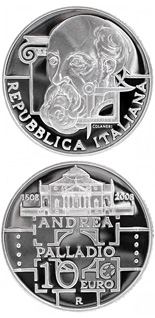 10  coin 500. birthday of Andrea Palladio | Italy 2008