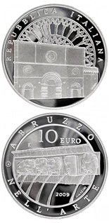 10 euro coin Italy of Arts – L'Aquila | Italy 2009