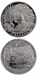 10 euro coin 500th anniversary of the death of painter Giorgione  | Italy 2010
