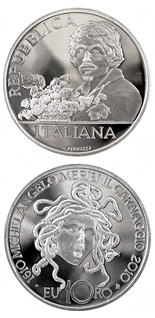 10 euro 400th anniversary of the birth of  painter Caravaggio  - 2010 - Series: Silver 10 euro coins - Italy