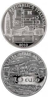 10 euro coin Italy of Arts – Roman city of Aquileia.  | Italy 2010