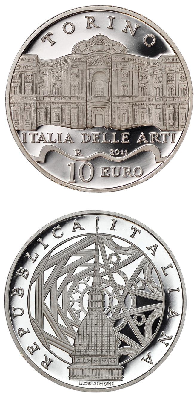 Italy of arts torino 10 euro coin italy 2011 for Coin torino