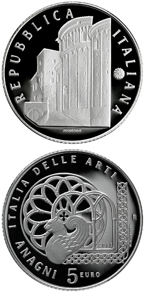 Image of a coin 5 euro | Italy | Italy of Arts – Anagni  | 2011