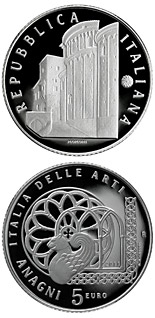 5 euro coin Italy of Arts – Anagni  | Italy 2011