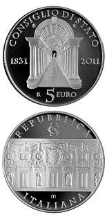 5 euro 180th Anniversary of the Italian Council of State  - 2011 - Series: Silver 5 euro coins - Italy