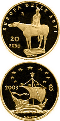 20 euro coin Europe of the Arts - Marino Marini - Italy | Italy 2003