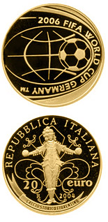 20 euro FIFA Football World Cup 2006 in Germany - 2004 - Series: Gold 20 euro coins - Italy