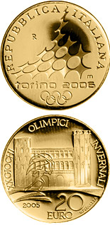 20 euro XX. Olympic Winter Games 2006 in Turin - Porte Palatine - 2005 - Series: Gold 20 euro coins - Italy