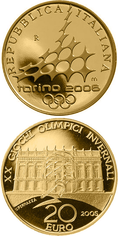 Image of a coin 20 euro | Italy | XX. Olympic Winter Games 2006 in Turin - Palazzo Madame | 2005