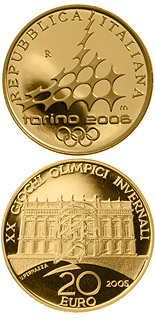 20 euro XX. Olympic Winter Games 2006 in Turin - Palazzo Madame - 2005 - Series: Gold 20 euro coins - Italy