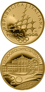 20 euro XX. Olympic Winter Games 2006 in Turin - Hunting lodge Stupinigi - 2005 - Series: Gold 20 euro coins - Italy
