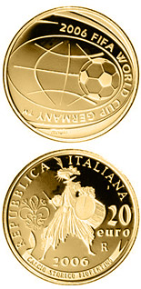 20 euro coin FIFA Football World Cup 2006 in Germany | Italy 2006