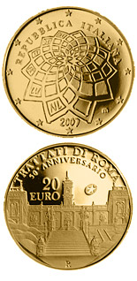 20 euro 50 Years Treaty of Rome - 2007 - Series: Gold 20 euro coins - Italy