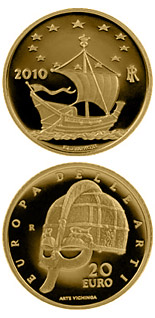 20 euro Europe of the Arts – Sweden - 2010 - Series: Gold 20 euro coins - Italy