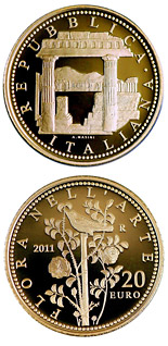 20 euro Flora in the Art - 2011 - Series: Gold 20 euro coins - Italy
