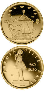 50 euro Europe of the Arts - Edgar Degas - France - 2005 - Series: Gold 50 euro coins - Italy