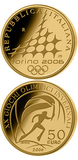 50 euro coin XX. Olympic Winter Games 2006 in Turin - Torch Relay | Italy 2006