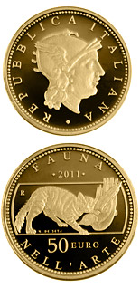 50 euro coin Fauna in the Art | Italy 2011
