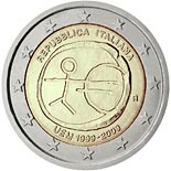 2 euro coin 10th Anniversary of the Introduction of the Euro | Italy 2009