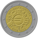 2 euro coin Ten years of Euro  | Italy 2012