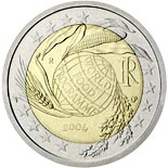 2 euro coin Fifth Decade of the World Food Programme | Italy 2004