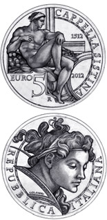 5 euro 500th Anniversary of the Unveiling of the Sistine Chapel Frescoes - 2012 - Series: Silver 5 euro coins - Italy
