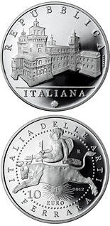 10 euro coin Italy of Arts: The Castle Estense in Ferrara | Italy 2012