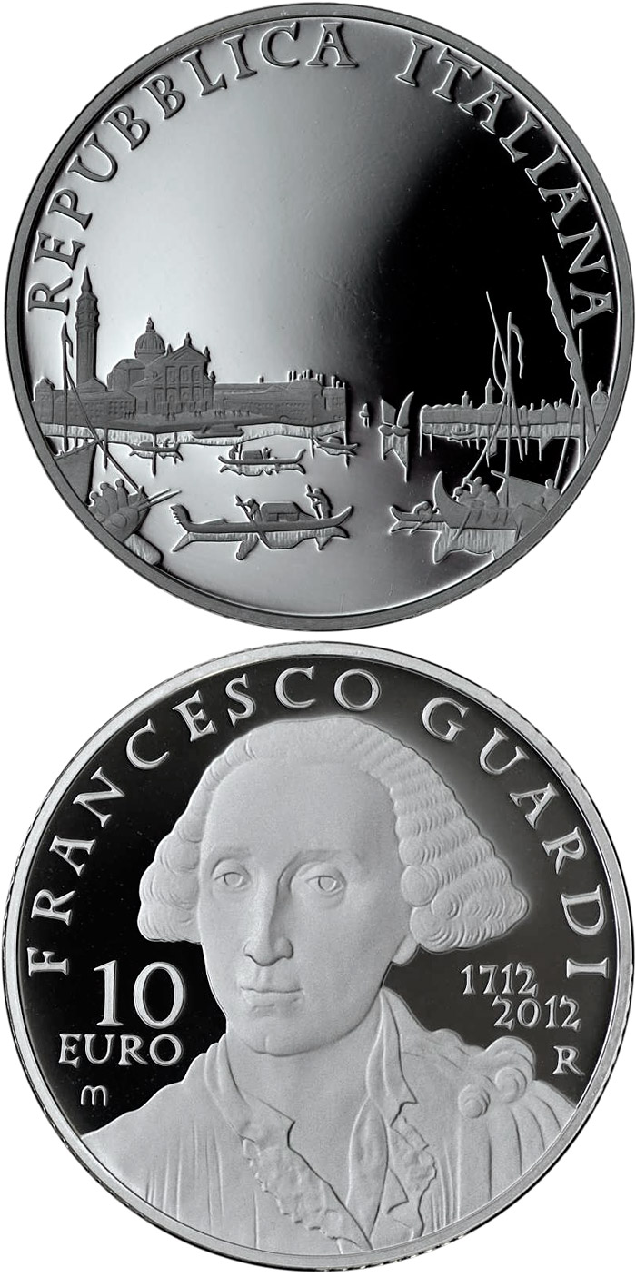 Image of 10 euro coin - 300th Anniversary of the Birth of Francesco Guardi | Italy 2012