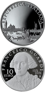 10 euro coin 300th Anniversary of the Birth of Francesco Guardi | Italy 2012