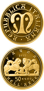 50 euro Fauna in the Art - 2012 - Series: Gold 50 euro coins - Italy
