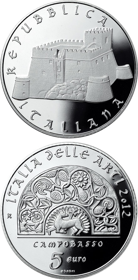 Image of 5 euro coin – Italy of Arts: Campobasso | Italy 2012
