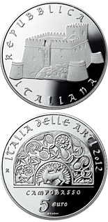 5 euro coin Italy of Arts: Campobasso | Italy 2012