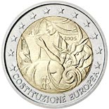 2 euro coin 1st Anniversary of the Signing of the European Constitution | Italy 2005