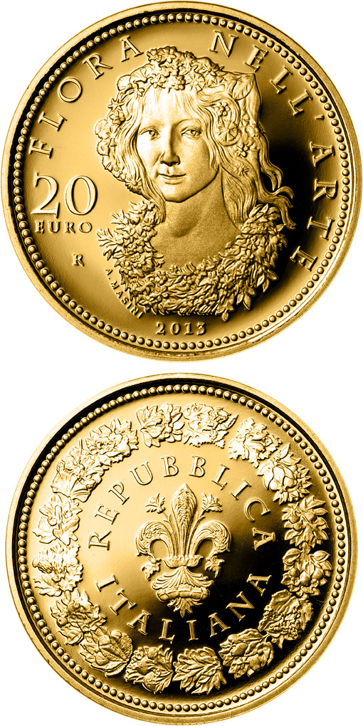 Image of a coin 20 euro | Italy | Flora in the Art: The Renaissance | 2013