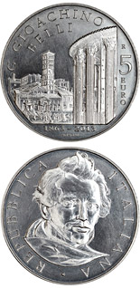 5 euro 150th Anniversary of the Death of Giuseppe Gioacchino Belli - 2013 - Series: Silver 5 euro coins - Italy