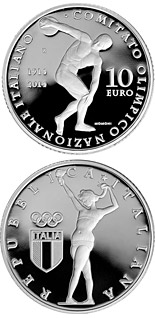 10 euro coin 100th Anniversary of the Foundation of the Italian National Olympic Committee | Italy 2014