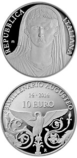 10 euro coin 2000th Anniversary of the Roman Emperor Augustus | Italy 2014