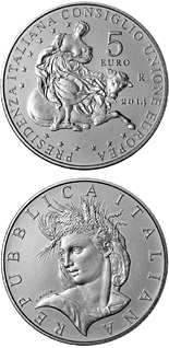 5 euro Presidency of the Council of the European Union - 2014 - Series: Silver 5 euro coins - Italy