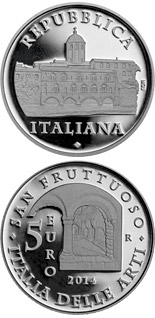 5 euro coin Abbey of San Fruttuoso | Italy 2014