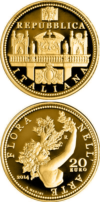 20 euro Flora in the Art: Baroque - 2014 - Series: Gold 20 euro coins - Italy