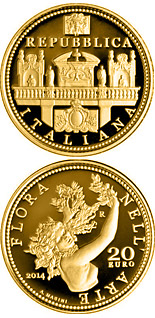 20 euro coin Flora in the Art: Baroque | Italy 2014