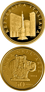 50 euro coin Fauna in the Art: Baroque | Italy 2014