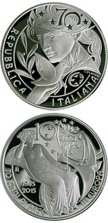 10 euro coin 70 Years of United Nations | Italy 2015
