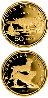 50 euro coin Fauna in the Art: Neoclassicism  | Italy 2015