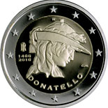 2 euro coin 500th Anniversary of the Death of Donatello | Italy 2016