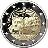 2 euro coin 2200th Anniversary of the Death of Tito Maccio Plauto | Italy 2016